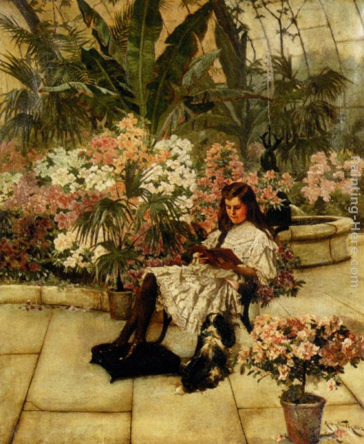 Arthur Wardle In The Conservatory