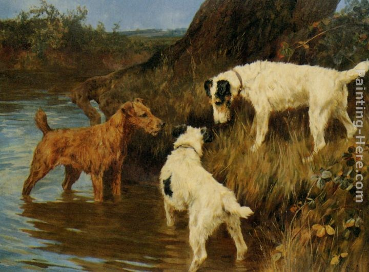 Arthur Wardle Three Terriers on the Scent