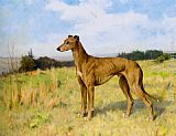 Arthur Wardle Champion Greyhound Dee Rock painting
