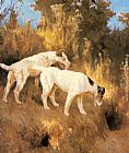 Arthur Wardle Terriers On The Scent painting