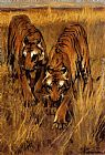 Arthur Wardle Tigers painting