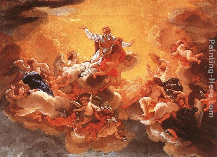 baciccio portrait of gian lorenzo bernini painting best  apotheosis of st ignatius
