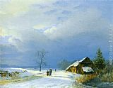 Barend Cornelis Koekkoek Winter in Het Gool painting