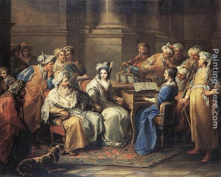 Carle van Loo The Grand Turk Giving a Concert to his Mistress