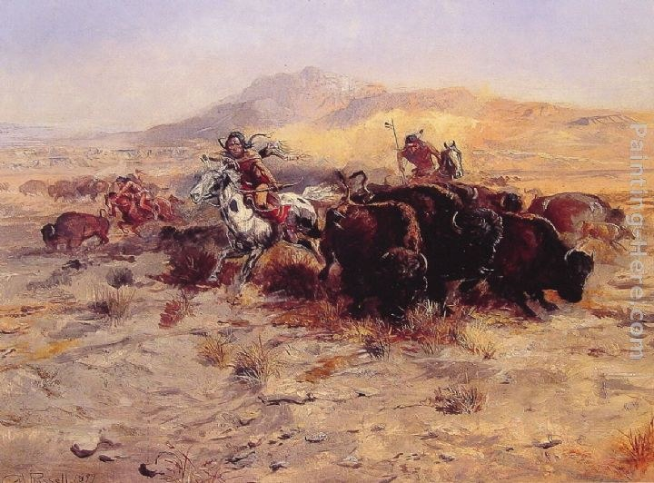 Charles Russell Original Paintings For Sale