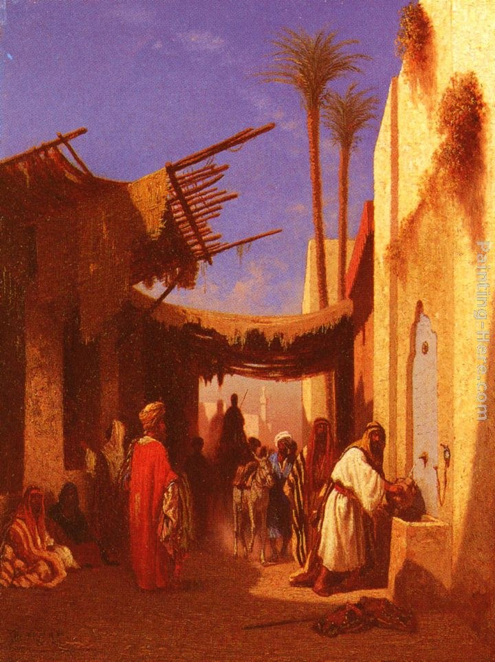 Charles Theodore Frere Street In Damascus and Street In Cairo A Pair of Painting (Pic 1)s
