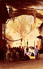 Charles Theodore Frere A Market Place, Cairo painting