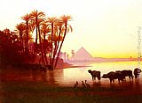 Charles Theodore Frere Along The Nile painting