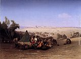Charles Theodore Frere An Rab Encampment On The Mount Of Olives With Jerusalem Beyond painting