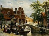Cornelis Springer A View of Franeker with the Zakkend Ragerschuisje painting