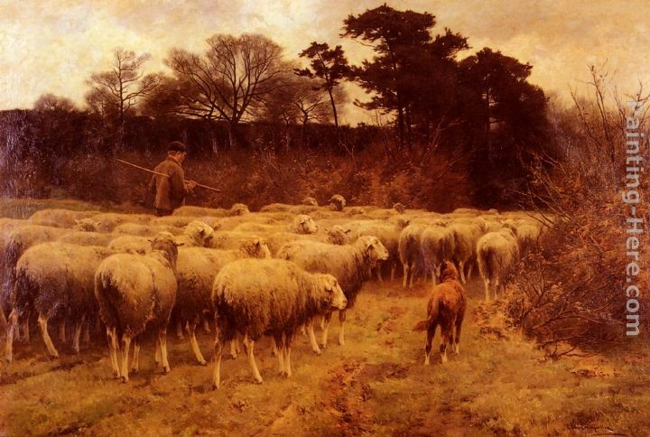 Cornelis van Leemputten Return of the Flock