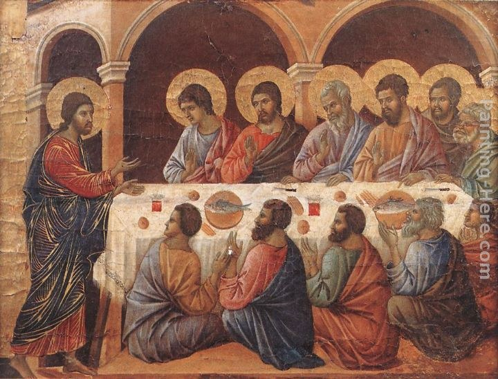 Duccio di Buoninsegna Appearence While the Apostles are at Table