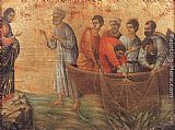 Duccio di Buoninsegna Appearence on Lake Tiberias painting