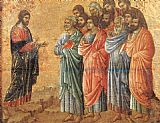 Duccio di Buoninsegna Appearence on the Mountain in Galilee painting
