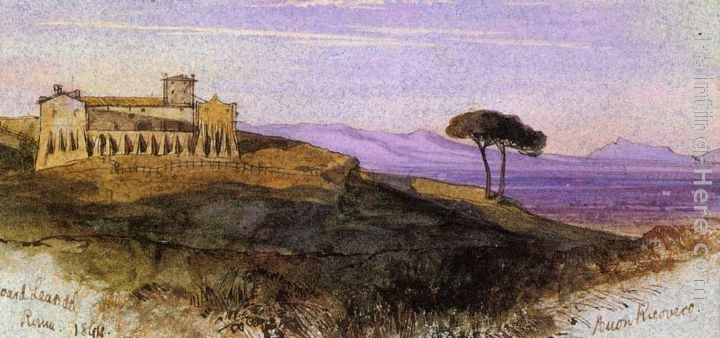 Edward Lear A View in the Roman Compagna