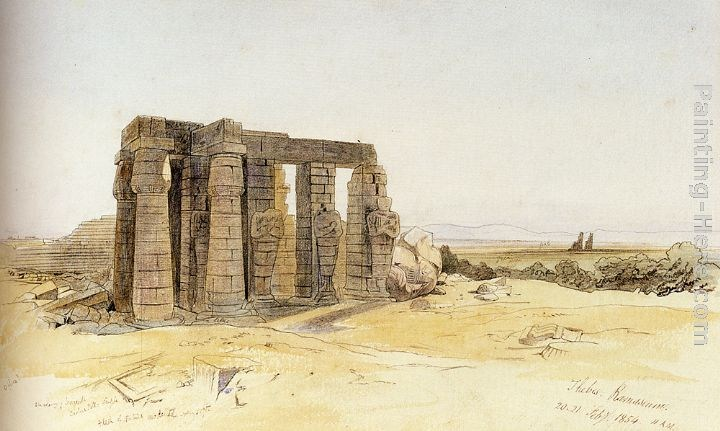 Edward Lear The Ramesseum, Thebes