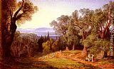Edward Lear Corfu and the Albanian Mountains painting