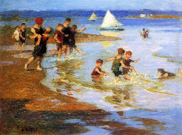 Edward Potthast Children at Play on the Beach