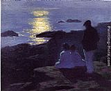 Edward Potthast A Summer's Night painting