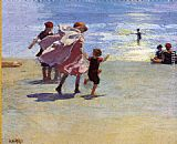 Edward Potthast Brighton Beach painting