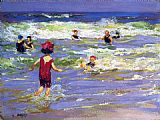 Edward Potthast Little Sea Bather painting