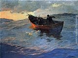 Edward Potthast Struggle for the Catch painting