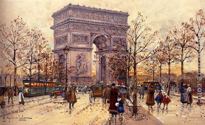 Eugene Galien-Laloue Arc de Triomphe Painting | Best ...