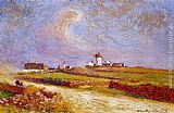Ferdinand Loyen Du Puigaudeau Countryside with Windmill, near Batz painting