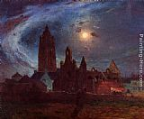 Ferdinand Loyen Du Puigaudeau The Bourg-de-Batz Church under the Moon painting