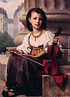 Francois Alfred Delobbe The Young Musician painting