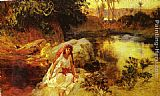 Frederick Arthur Bridgman At The Oasis painting