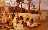 Frederick Arthur Bridgman Women at the Cemetery, Algiers painting