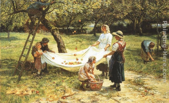 Frederick Morgan An Apple-gathering