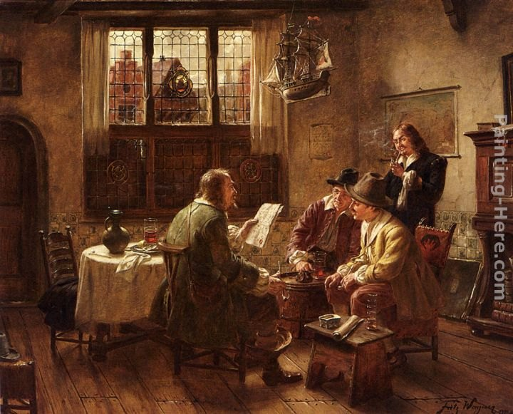Fritz wagner the contract painting best paintings for sale for Artist mural contract