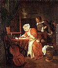 Gabriel Metsu The Letter-Writer Surprised painting
