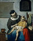 Gabriel Metsu The Sick Child painting