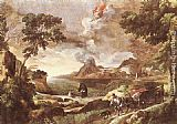 Gaspard Dughet Landscape with St Augustine and the Mystery painting