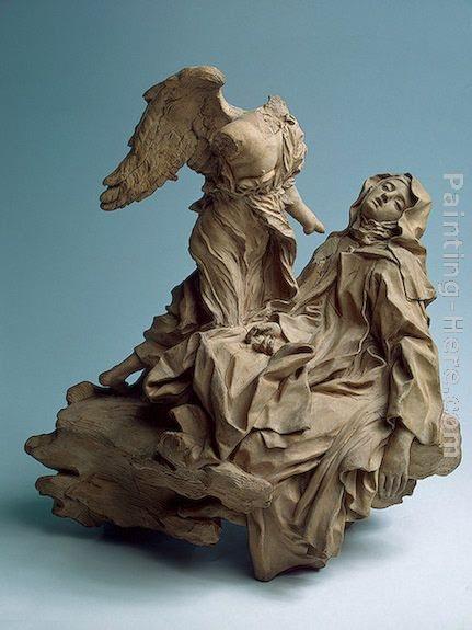 Paintings - Gian Lorenzo Bernini The Ecstasy of St Teresa PaintingBernini St Teresa Painting