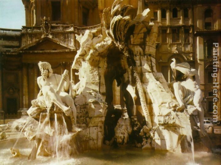 Gian Lorenzo Bernini The Four Rivers Fountain Painting ...