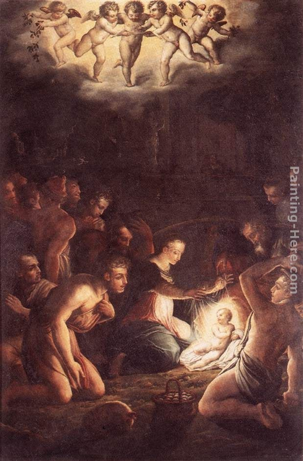 Giorgio Vasari The Nativity Painting | Best Paintings For Sale