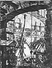 Giovanni Battista Piranesi The Prisons (plate IV) painting