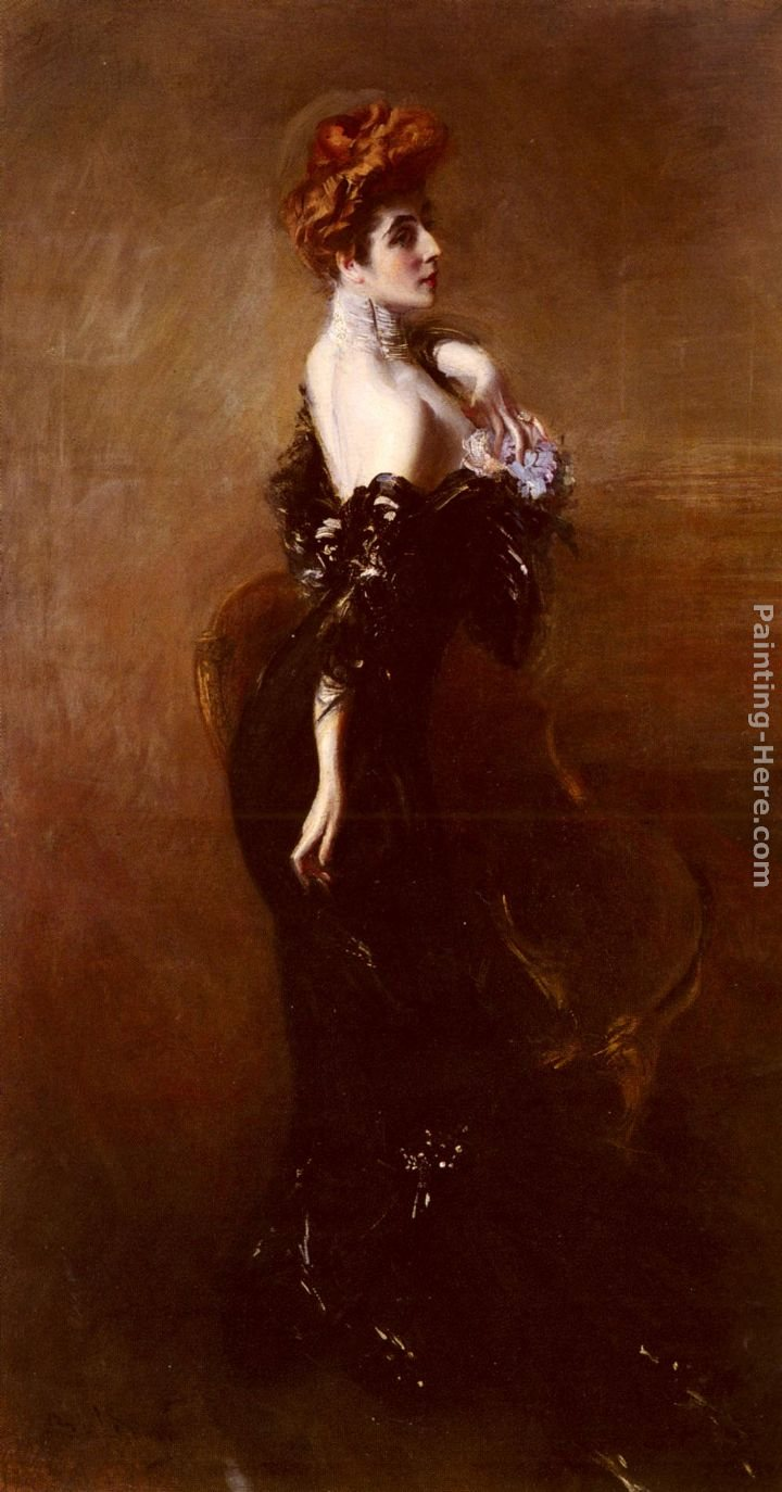 Giovanni Boldini Portrait Of Madame Pages In Evening Dress