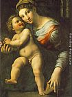 Giulio Romano Virgin with the Child painting