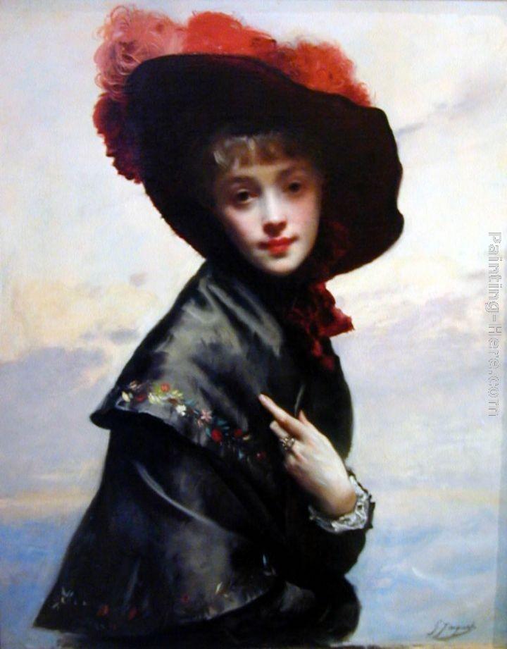 Gustave Jean Jacquet La Coquette Painting | Best Paintings For Sale