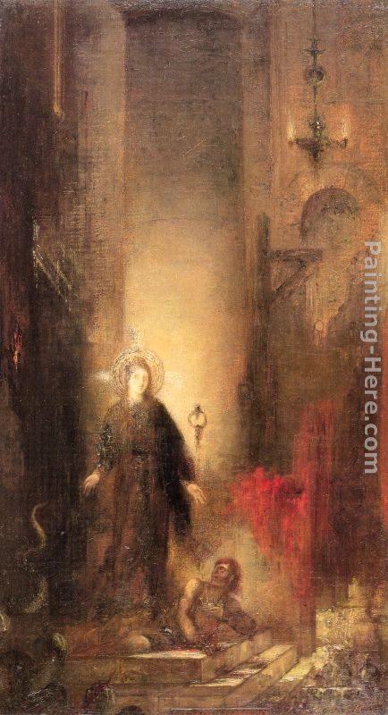 Gustave Moreau Saint Margaret Painting Best Paintings
