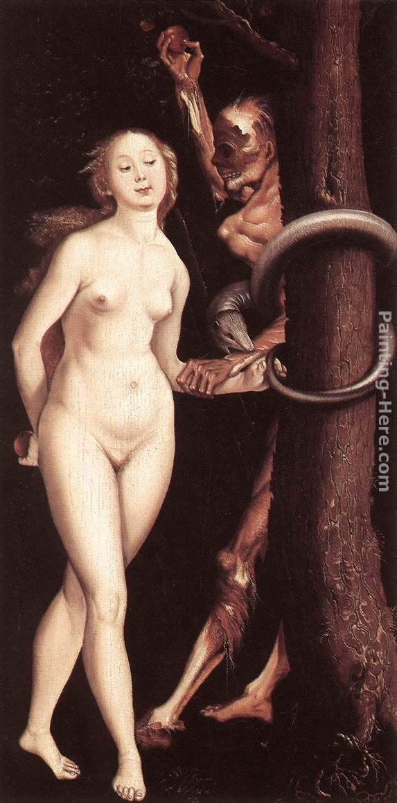 Hans Baldung Eve, the Serpent, and Death