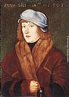 Hans Baldung Portrait of a Young Man with a Rosary painting
