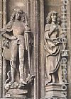 Hans Multscher St George and St John the Evangelist painting