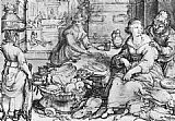 Hendrick Goltzius The Rich Kitchen painting