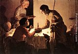 Hendrick Terbrugghen The Supper painting